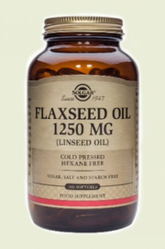 Flax Seed Oil 1250 mg Flaxseed Oil 100 softgels Solgar