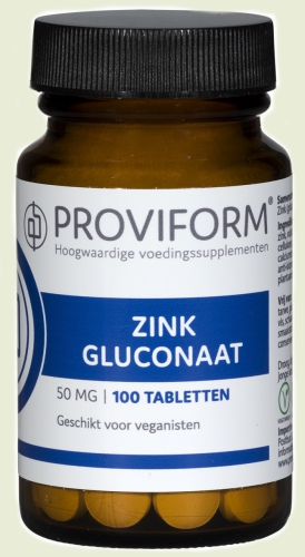 Zinc gluconate 50mg 100 tablets proviform