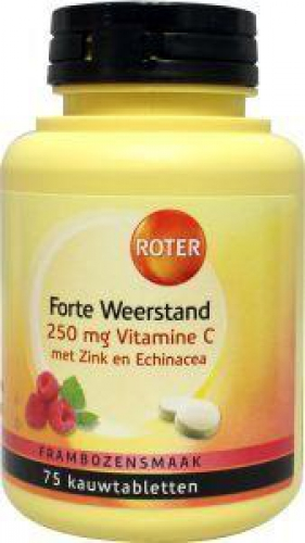 Vitamin c forte resistance 250mg 75kauwtabl Roter