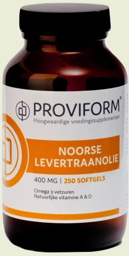 Norwegian cod liver oil and vitamin D 100 softgels proviform