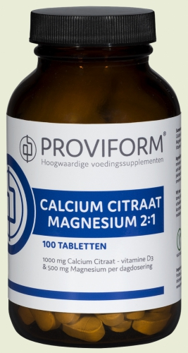 Calcium magnesium citrate 2: 1 100/250 tablets Proviform