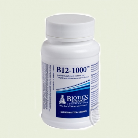 Vitamin B12 1000 mcg 60 suction tablets Biotics