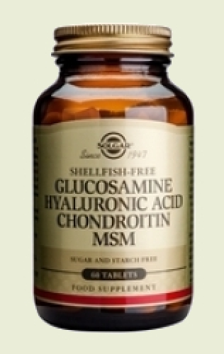 Glucosamine Hyaluronic Acid Chondroitin MSM 60 tablets Solgar