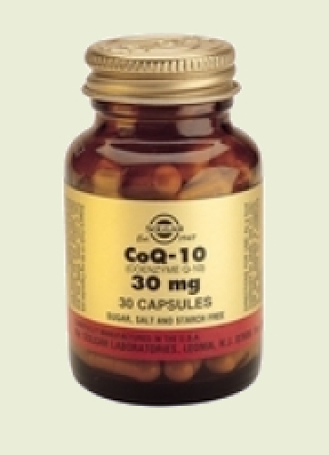 Co-Enzyme Q-10 30 mg 30 gélules Solgar