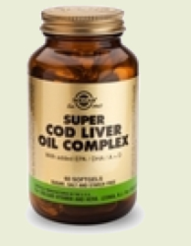 Super Cod Liver Oil Cod Liver Oil Complex with additional omega-3 softgels 60 Solgar