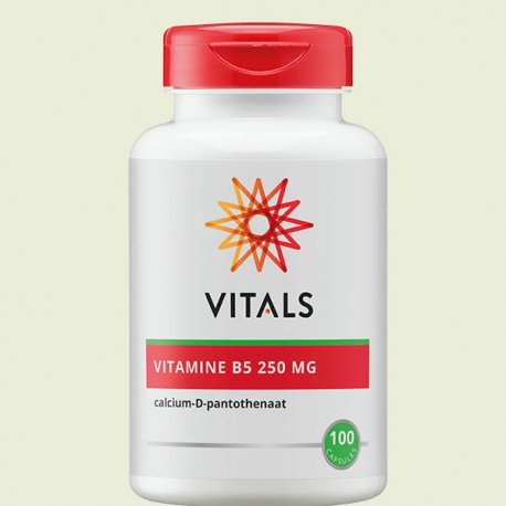 Vitamin B-5 pantothenic acid 250mg 100 tablets Vitals
