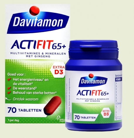 Actifit 65+ multi vitamine 70 tabletten Davitamon