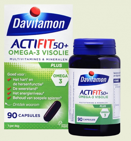 Actifit 50 + Omega-3 fish oil capsules Davitamon