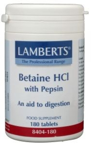 Betaine HCL / pepsin 180tabl Lamberts