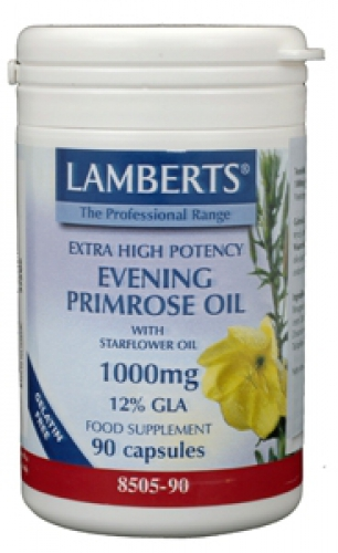 Evening primrose 1000mg 90caps + borageolie lamberts