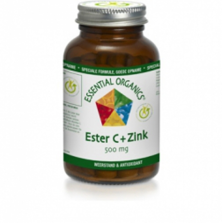 Ester C 500mg + Zinc 60 Tablets Essential Organics