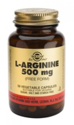 L-Arginine 500 mg Vegetable Capsules Solgar 50