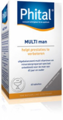 Multi man 60 tabletten Phital