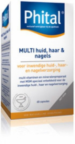 Multi skin, hair and nails 60 capsules Phital