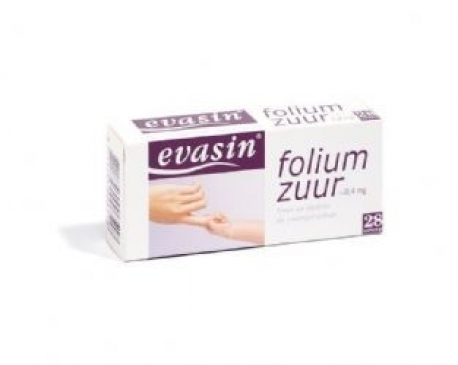 Evasin acide folique de 0,4 mg