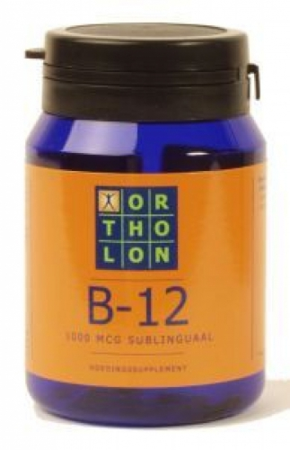 Vitamin B12 1000 mcg sublingual 60tab Ortholon