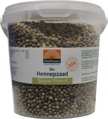 Organic Hemp Seed Unpeeled Raw Mattisson 400gr