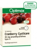 Cysticare cranberry slow release 30 tabletten Optimax